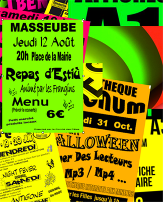 Affiches fluo